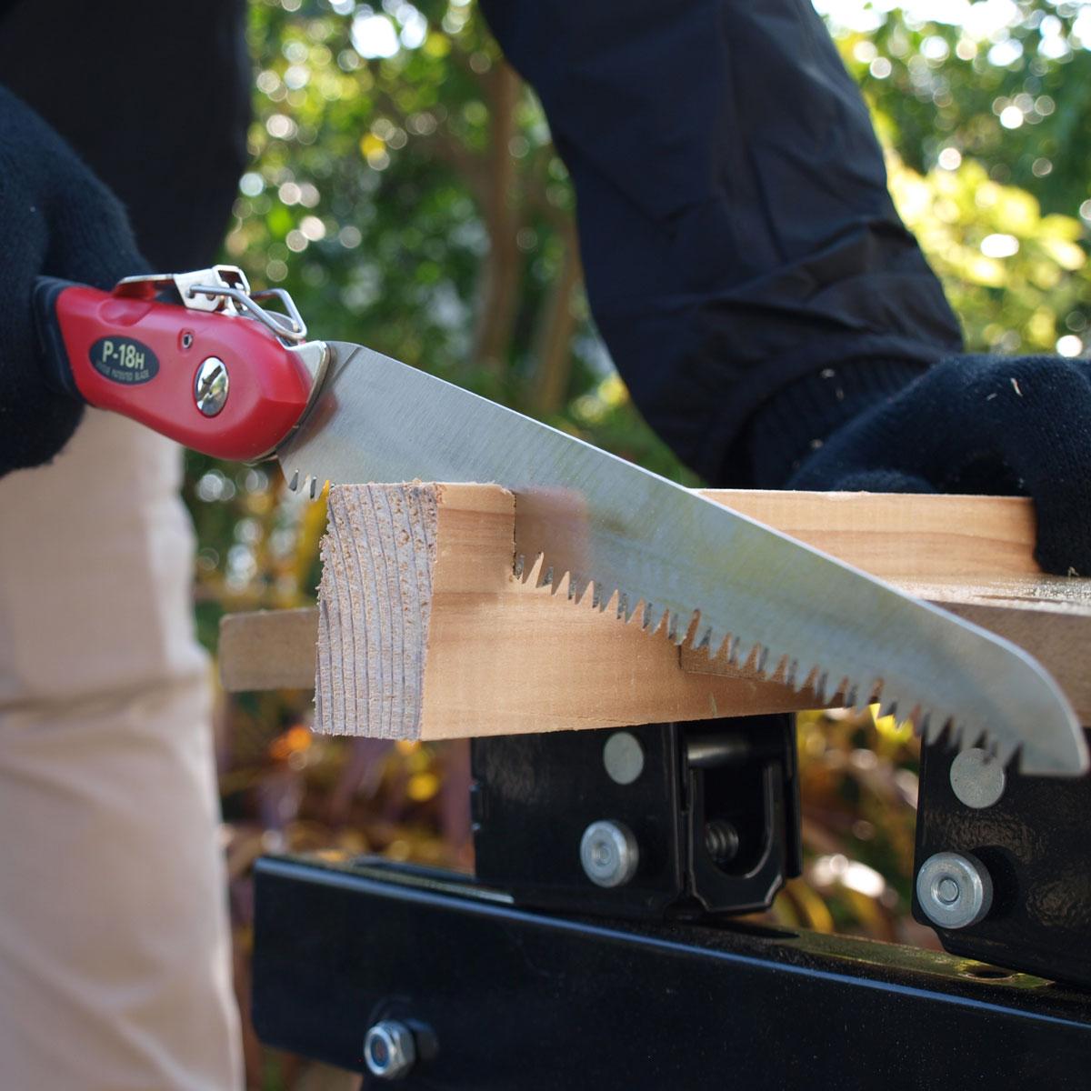 工作用途に加え、生木も切れる。工作園芸鋸ハードタイプP-18H